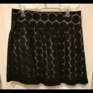 Maurice's Black Dot Skirt